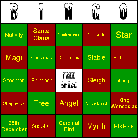 Click to view Christmas Bingo 1.00 screenshot